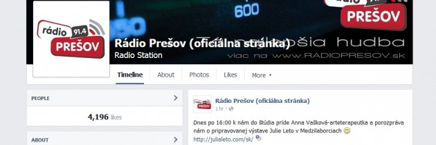 Talk in Radio Presov (SK only)